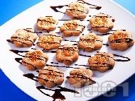 Домашни шоколадови сладки с топинг